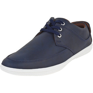 Buwch Mens Blue Lace-up Smart Casuals Shoes