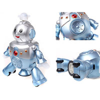 Dancing Robot Battery Operated Musical Sound Colorful Lights Toy Game Gift Fun - 2017186
