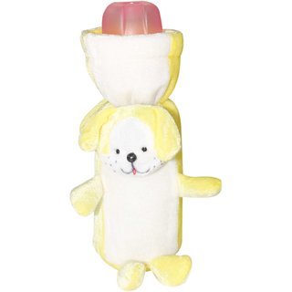 Wonderkids Dog Baby Bottle Cover  Yellow and White