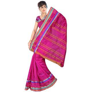 ria fashion banarsi cotton silk saree with blouse piece
