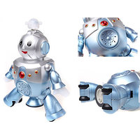 Dancing Robot Battery Operated Musical Sound Colorful Lights Toy Game Gift Fun
