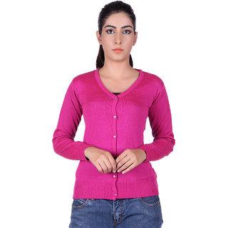 Ogarti 9001 Plain pink Cardigans