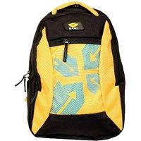 Sami Yellow And Black Polyester Kids School Bag
