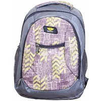 Sami Brown  Grey Polyester School Bag For Girls