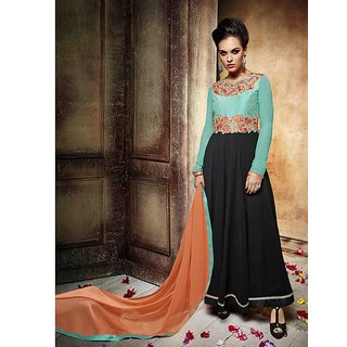 Shoponbit Delightful Multicolor Long Anarkali Suit