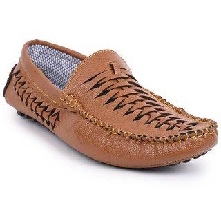 Foot n Style Mens Brown Loafers