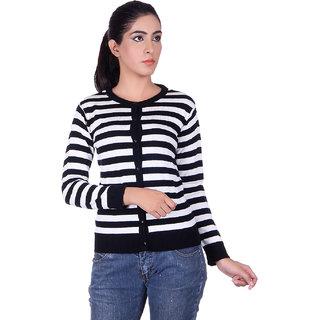 Ogarti 9005 Striped Black White Cardigans