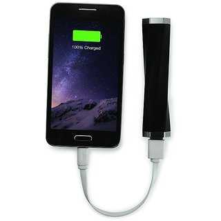 Powerocks CURVE 26 2600 mAh Power Bank Charger (Black-Silver)