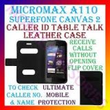 Caller Id Book Cover Flip Case Pouch For Micromax A110 Superfone Canvas 2