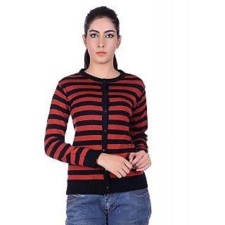 Ogarti 9005 Striped Black Rust Cardigans