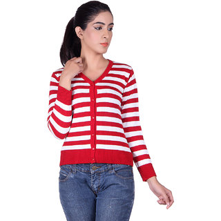 Ogarti 9005 Striped Red White Cardigans