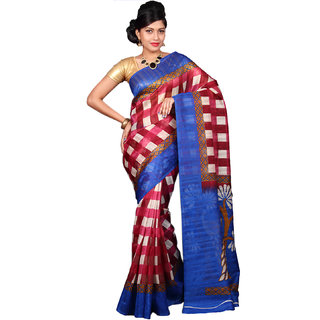 Glamorous Lady Fancy Bhagalpuri Printed Saree (GL0099)
