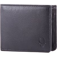 Wildhorn Men Casual, Formal Black Genuine Leather Wallet (6 Card Slots)
