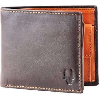 Wildhorn Men Casual Formal Brown Genuine Leather Wallet (6 Card Slots)