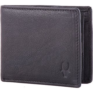 Wildhorn Men Casual Formal Black Genuine Leather Wallet (5 Card Slots)