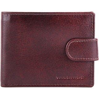 Wildhide Men Casual Formal Brown Genuine Leather Wallet (6 Card Slots)