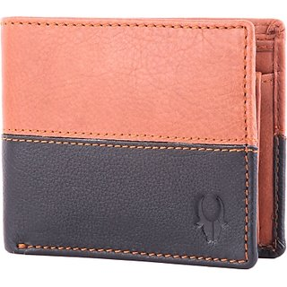 Wildhorn Men Casual Formal Brown Genuine Leather Wallet (5 Card Slots)
