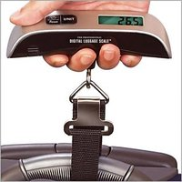 50kg Hanging Digital Travel Electronic Luggage Scale With Room Temperature Scale