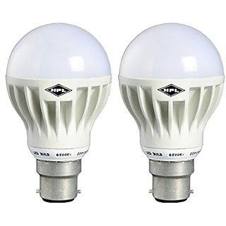 HPL LED GLO 7W - White BULB Pack of 2