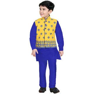 Pagli yellow jacket with blue kurta churidhar -PJVRE-478412