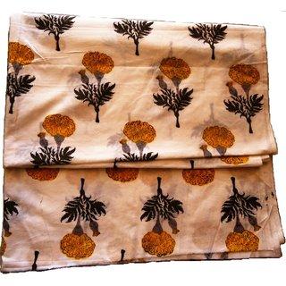 Hand Block Printed Cotton Fabric 2.5 Meter for kurti