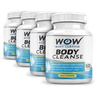 Wow Body Cleanse - Colon Cleanse & Detox Dietary Natural Weight Management Supplement - 60 Veg Capsules (Pack Of 4)