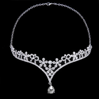 Wedding Party Bridal Bridesmaid Crystal Flower Rhinestone Crown Tiara / Frontlet