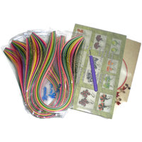Quilling Strips And Books Kit - 1600 Quilling Strips And Quilling Books 2 Nos