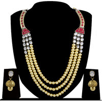 Zaveri Pearls Grand Pearl Kundan Rani Haar Necklace Set-ZPFK4147