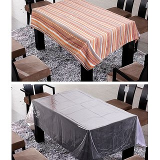 FREELY COTTON WITH TRANSPRANT TABLE COVER FOR 8 SEATER(Buy 1 Get 1)DT-RO-CNGB-CD