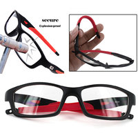 Unisex Sports Style Black Frame Clear Lens Glasses Eyeglasses Spectacles