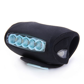 7LED Bike Bicycle Super Frog Light Headlight (Black)