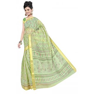 srujan textiles lakdipatta printed cotton saree