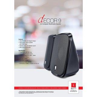 iball Decor 9 Computer Multimedia Speaker - Black
