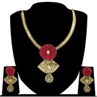 Zaveri Pearls Swarna manak Necklace Set-ZPFK4164
