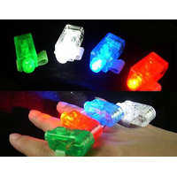 LED Finger Ring Lights Glow Laser Finger Beams Party Flash Kids (4 pieces)