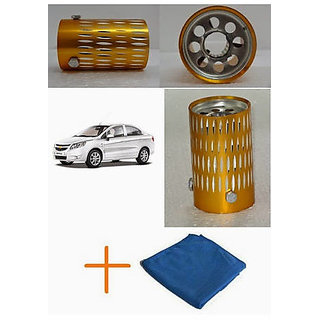 Takecare Combo Golden And Silver Silencer Tip Pipe With Cleaning Cloth For Hyundai I-20 Active