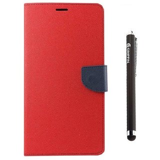 Ygs Diary Wallet Case Cover  For   Samsung Galaxy J3-Red And Griffin Stylus Pen