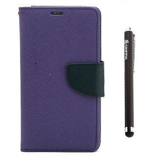 Ygs Diary Wallet Case Cover  For   Motorola Moto X Play-Purple And Griffin Stylus Pen