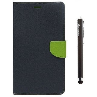 Ygs Diary Wallet Case Cover  For  Sony Xperia Z3-Blue And Griffin Stylus Pen