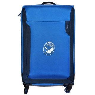 American Club 20 inch 4 Wheel Teflon Trolley Bag Blue