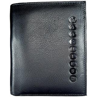 Moochies Genuine Leather Gents Wallet Black (emzmocgw102bl)