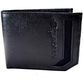 Moochies Genuine Leather Gents Wallet Black (emzmocgw4bl)