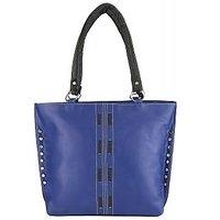 Indian Style Purple  Black Fabric Casual Plain Handbag
