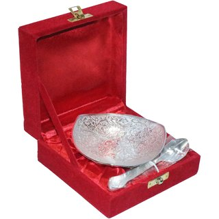 decorifyMe Gift Silver plated Spoon and Bowl Condiment Set
