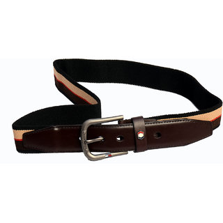 Women brown fabric belt