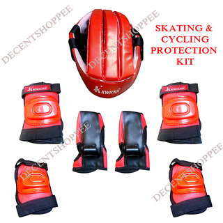 SKATE CYCLING PROTECTION KIT with Helmet Knee Elbow Guards  Gloves