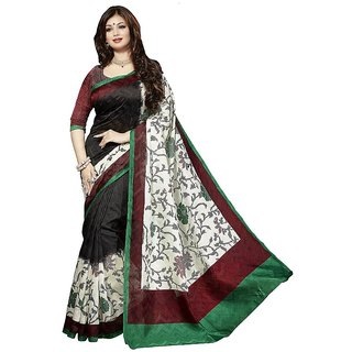 Light Grey  Art Bhagalpuri Silk Saree with Blouse