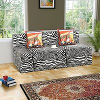 Dolphin Double Zeal Sofa-Zebra