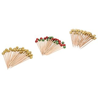 Ezee Fancy Mix Beads Wooden Toothpick (255 Pieces)